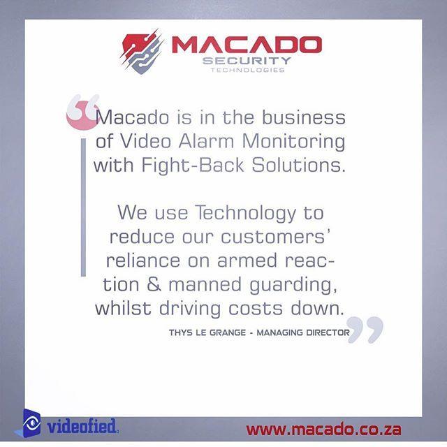 Visit Macado Security Technologies Instagram: https://www.instagram.com/macadosecuritytechnologies/