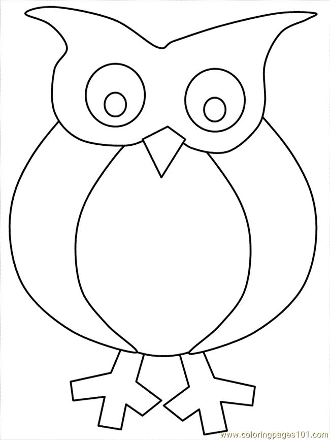 free printable coloring page owl coloring 03 birds owl
