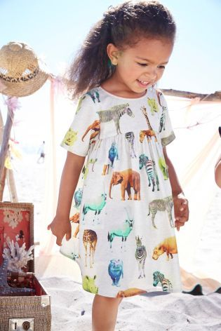 Buy Ecru Safari Print Dress (3mths-6yrs) online today at Next: Denmark