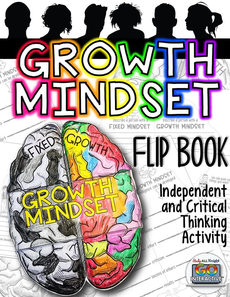 Growth Mindset Flip Book - activity promotes independent thinking and critical thinking in a student centered classroom, and differentiation.($)