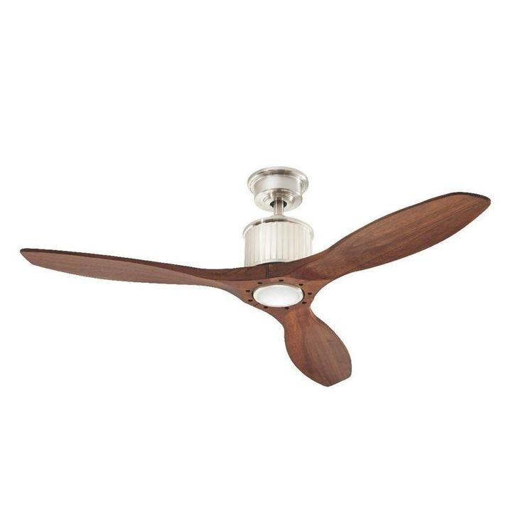 Home Decorators Collection Reagan II 52 in. LED Brushed Nickel Ceiling Fan-YG423-BN - The Home Depot
