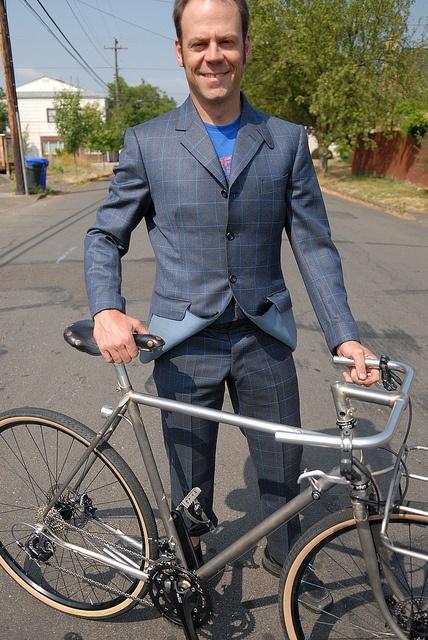 Tony Pereira's bespoke cycling suit