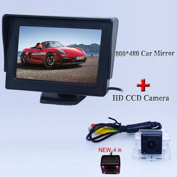 """4.3"""" TFT LCD Car Rear View Parking Monitor Rearview Backup Monitor +Car Rear View Reverse Backup Camera for Mitsubishi Outlander"""