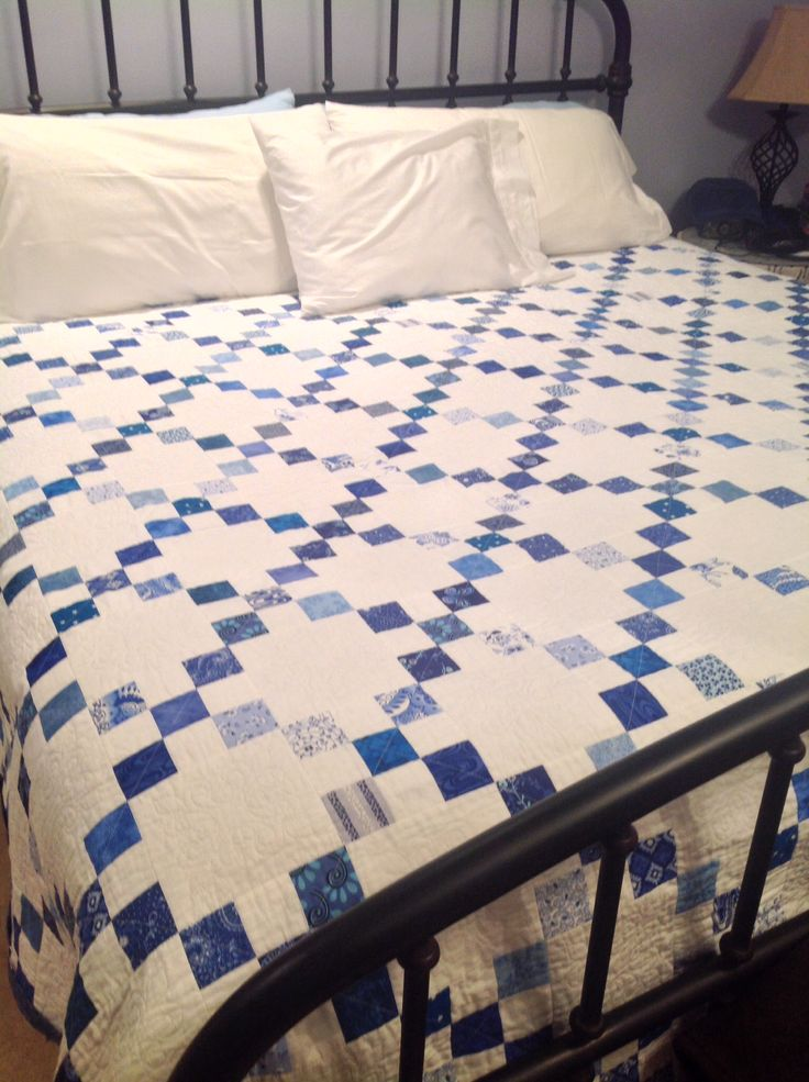 King size Irish Chain quilt, December 2013 Made for my brother and sister-in-law
