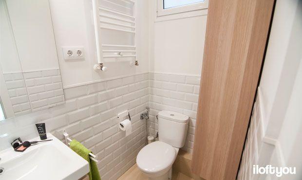 #proyectorossello #iloftyou #interiordesign #barcelona #lowcost #catalunya #después #bathroom #baño #baldosametro #metrotiles #mampara #godmorgon