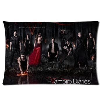 Fashion Pillowcases The Vampire Diaries TV Series Two Sides Rectangle Pillow Case 20*30 inches Inch