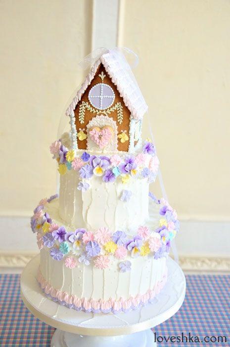 ゼクシィ掲載 / スイーツ / rosepetal / シュガーケーキ /お菓子の家 / ウエディングケーキ / ウェディング / 結婚式 / wedding / オリジナルウェディング / プティラブーシュカ
