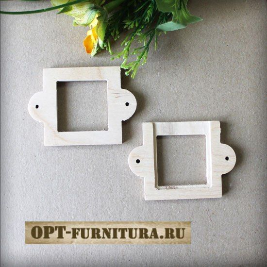 Шильда (шильдик) деревянный 6х8,4 см на opt-furnitura.ru #шильдик #шильд #бирка #декупаж
