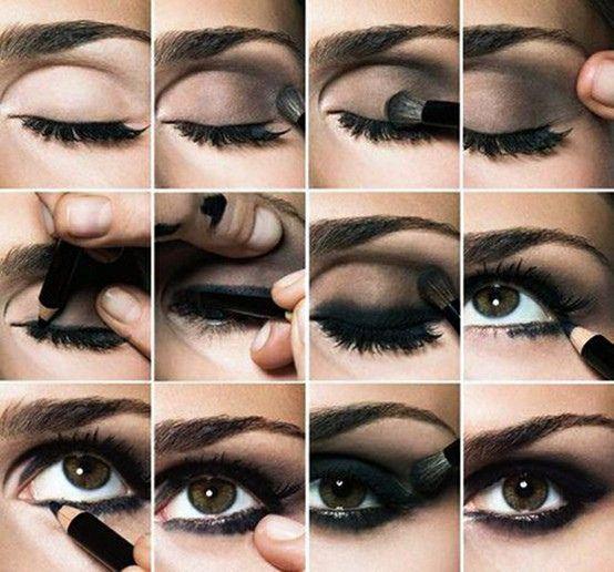 How To Get Smokey Eyes: Dark Eye, Smokey Eye Tutorials, Eye Make Up, Smokeyeye, Eyeshadows, Eyemakeup, Smoky Eye Tutorials, Step By Step, Smokey Eye Makeup