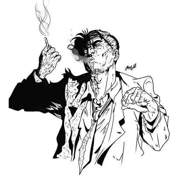 Two face of Batman evil  the fortune live or die by moisesgh