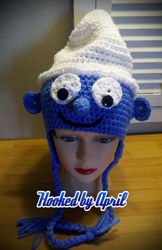 CUSTOM ORDER crochet SMURF hat toddler child by HookedByApril, $15.00