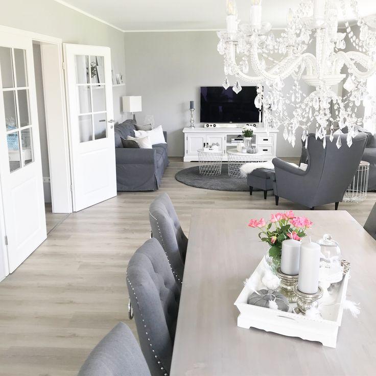 Instagram: wohn.emotion Landhaus Wohnzimmer Wohnzimmer Esszimmer Esszimmer …   – Möbel