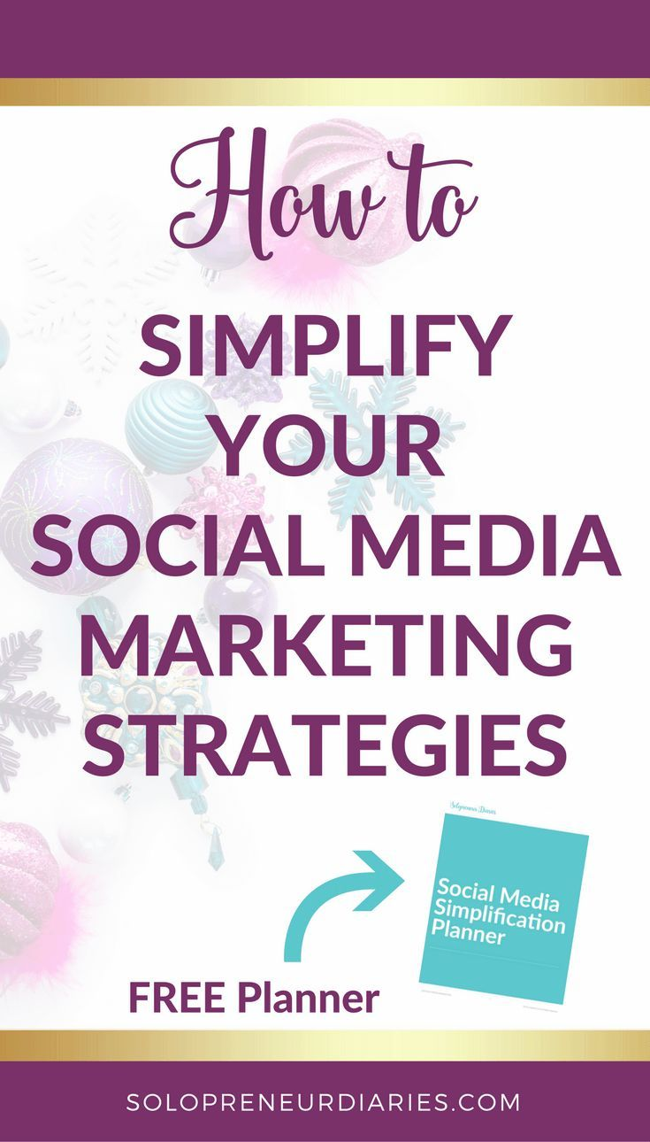 Do you need ideas for how to simplify your social media marketing strategy? Here are 10 tips and ideas to help small businesses and entrepreneurs keep it simple during the busy #holiday season.  Plus, grab a free printable social media simplification planner!