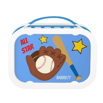 All Star Baseball Kids Personalized Lunch Box - boy gifts gift ideas diy unique
