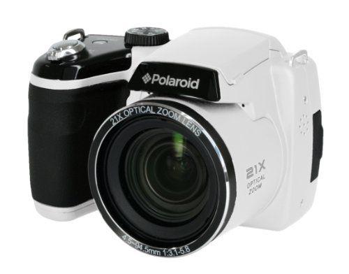 "Digital Bridge Camera DSLR Style Polaroid IS2132 16 Megapixel Bridge Digital Camera - White (16MP, 3.0"" Screen, 21x Optical Zoom, Alkaline Batteries) Polaroid http://www.amazon.co.uk/dp/B00DTRM4MI/ref=cm_sw_r_pi_dp_63i2tb1W6P319P8P"