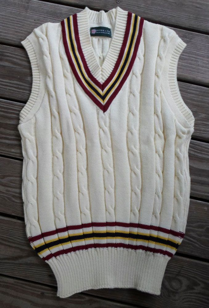 Men S British Cricket Tennis Sweater Vest Just Posted For