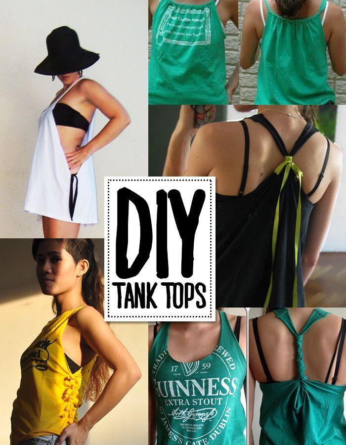 6 DIY tank top tutorials #Summer, #DIY, Summer Crafts