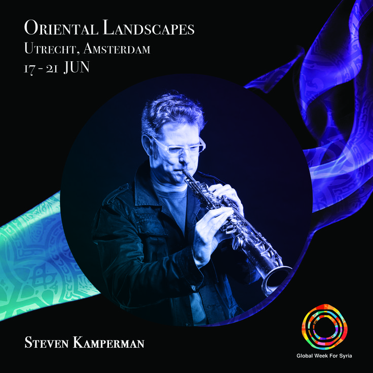 """Utrecht – based clarinetist and composer. Steven Kamperman newly composed piece commissioned by Oriental Landscapes festival """"The wider the vision, the narrower the phrase"""" on the lyrics of the great Sufi poet Al-Niffari (died in Egypt in 965) will be performed by Syrian mezzo-soprano Dima Orsho and accompanied by New European Ensemble."""