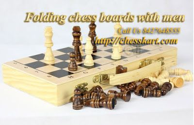 Finest folding chess sets carved in wood best suitable for storing your chess pieces and keep them safe available at the best prices in various variants. #FoldingChessBoardswithMen