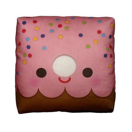 Decorative Pillow, Mini Pillow, Throw Pillow, Kawaii Print, Toy Pillow, Eco-Friendly Printed on Cotton Fabric - Yummy Donut. $18.00, via Etsy.Happy Donuts, Minis Dog Qu, Cotton Fabrics, Yummy Donuts, Minis Pillows, Decorative Pillows, Throw Pillows, Decor Pillows, Los Donuts