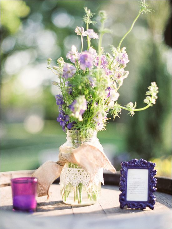 burlap and lace decoration ideas
