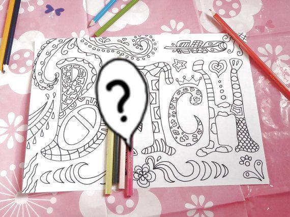 parolaccia libro colorare adulti disegno pagina scherzo divertente amici…