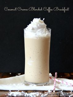 Coconut Creme Blended Coffee Breakfast 3/4 cup milk 1/4 cup Coconut Creme Coffee-mate 1 packet Carnation Instant Breakfast Classic French Vanilla flavor 1 1/2 tsps Nescafe Instant Coffee granules 1 tbls ground flax seed 1/2 cup ice Combine all ingredients in a blender and process until smooth and creamy. If you want to really be indulgent, top with whipped cream and shredded coconut.