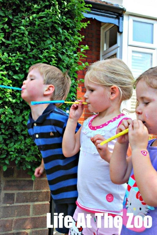 olympic javelin game.  A great way to practice blowing for kids who have challenges with lip closure.