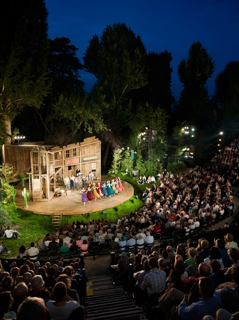 Regent's Park Theatre where I spent 1999 working in marketing in a wee portakabin at the back. A place full of magic and beauty as the sun goes down. One of London's sparkliest gems.