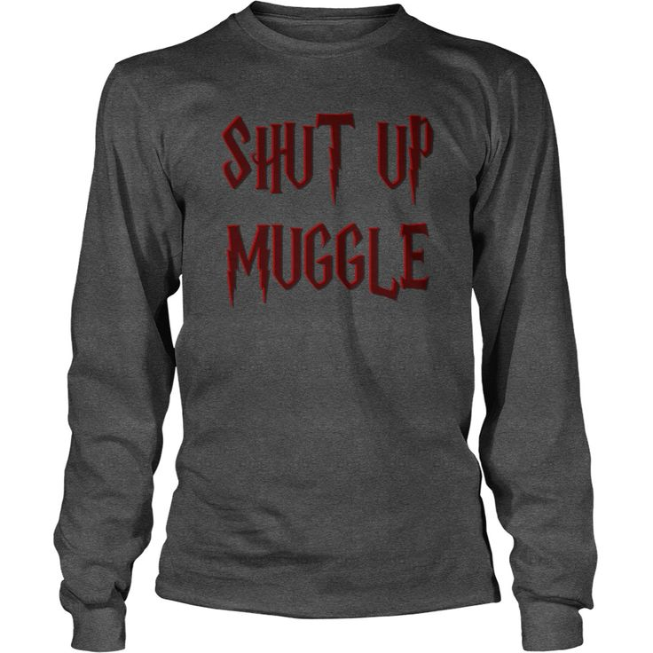 Shut up funny Harry style shirts 3d effect lettering magical design nerdy geek books movies red