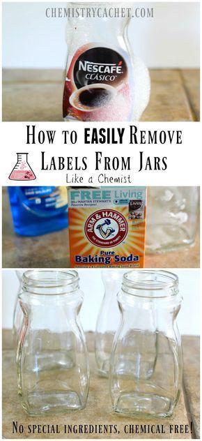1. 15-20 min in spüli Wasser einlegen.  2. den restlichen Kleber mit einer Paste aus Backpulver und spüli mit einem schwamm entfernen Fertig!