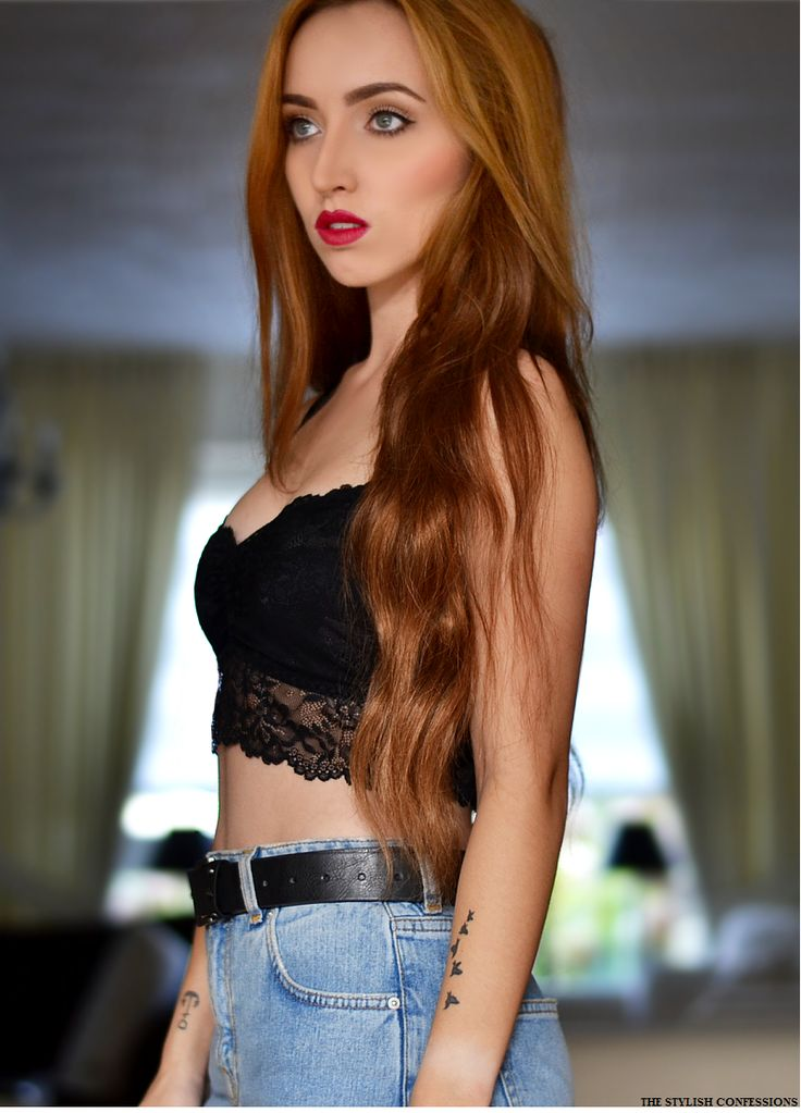 Black Lace Bralette Outfit4