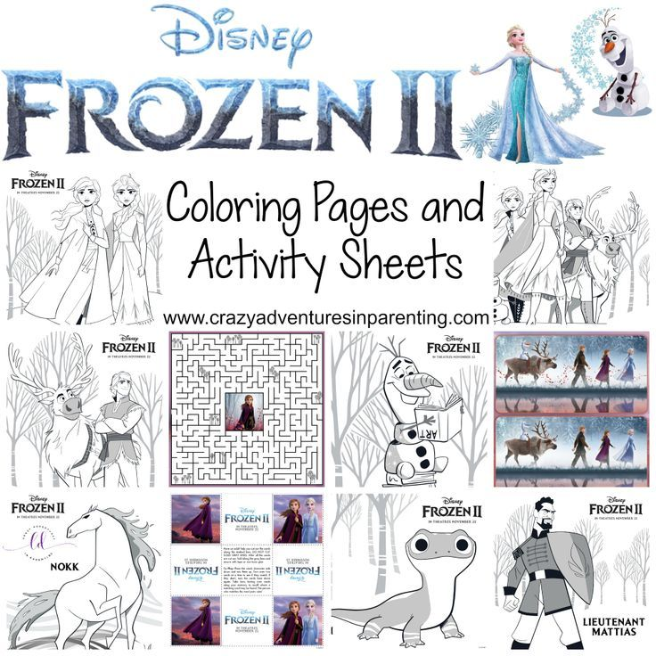 Free Printable Frozen 2 Coloring Pages And Activity Sheets Activity Sheets Frozen Coloring Pages Disney Activities