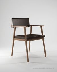desk chair - I like the touch of leather