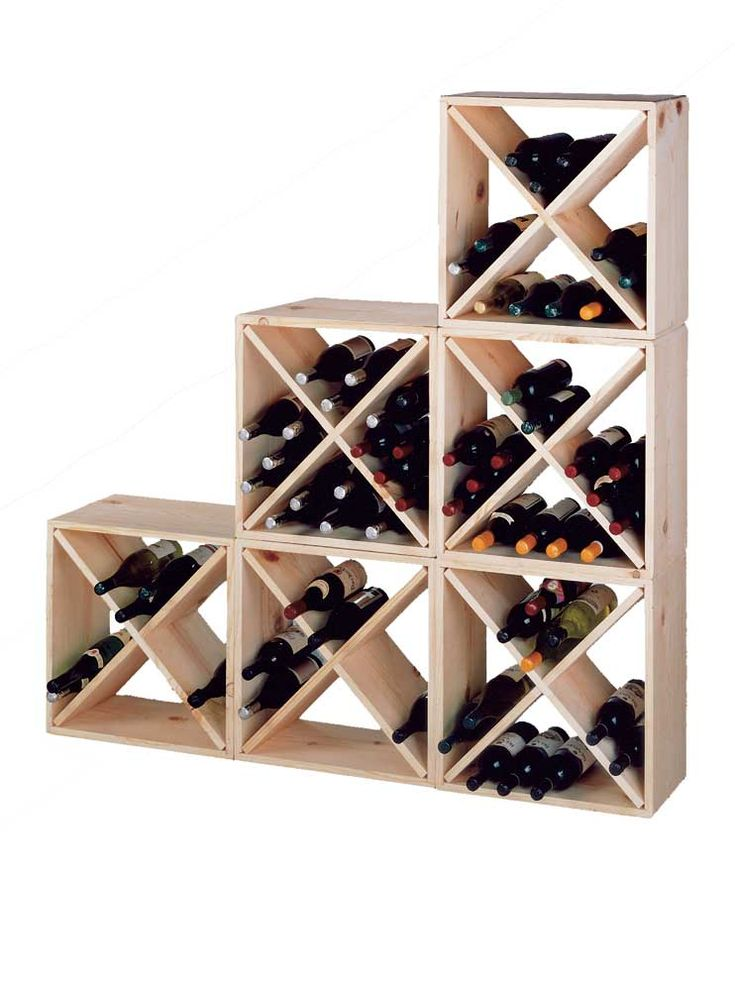 Pine Cube Wine Rack   Pine Wine Rack   Cube Wine Rack. Stain this a cherry or a deep walnut?