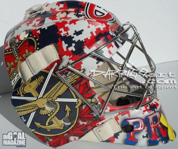 Carey Price's Remembrance Day mask