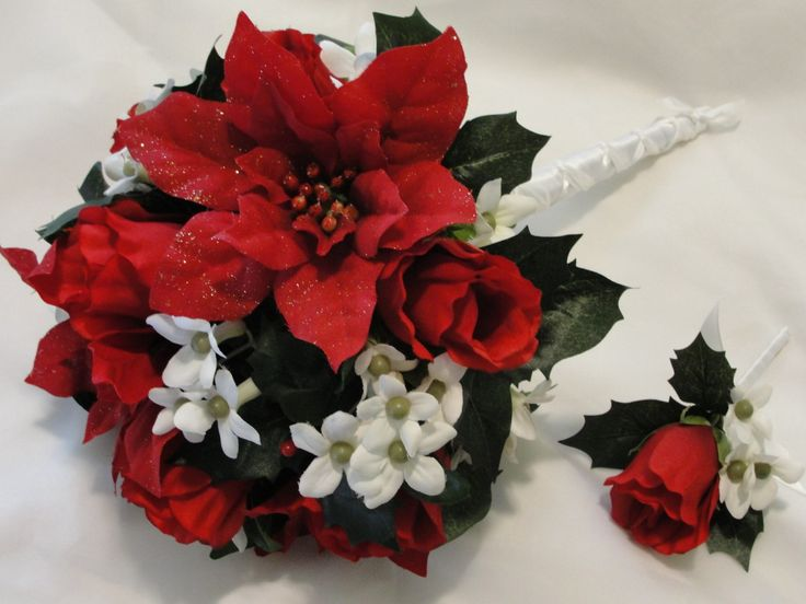 red and white bridal bouquets | Red Wedding Flowers 150x150 Wedding Flowers & Their Colors
