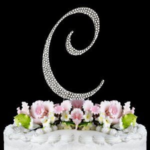 New York Wedding Films likes: RAEBELLA WEDDINGS & EVENTS NEW YORK presents these stunningly fabulous Silver Monogram Cake Toppers.