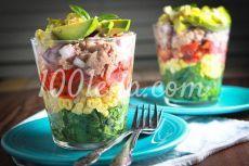 Веррин салат в стакане с тунцом - Диетические салаты от 1001 ЕДА