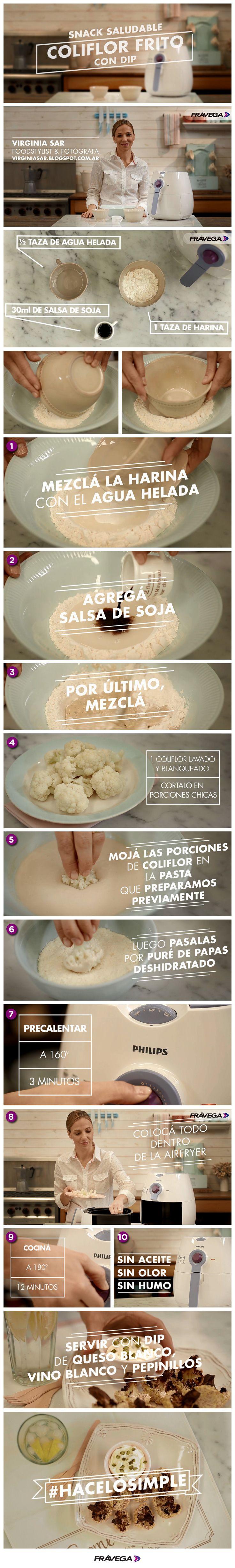 ¡Para cualquier ocasión! Virginia Sar te enseña cómo hacer coliflor frito con dip. #HaceloSimple con Frávega