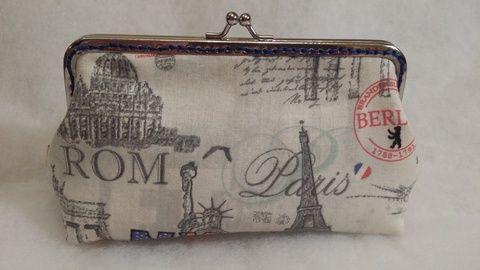 Párizs, New York pénztárca, Táska, Pénztárca, tok, tárca, Pénztárca, Meska