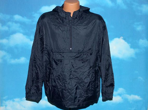 GAP Navy Blue Pullover Windbreaker Jacket Small / Youth XXL Vintage 1990s by nodemo