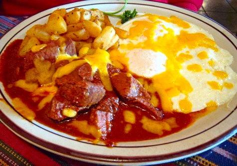 Eggs & carne adovada