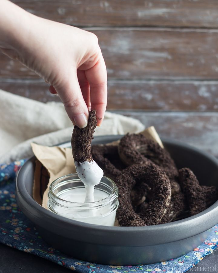 Cookies & Cream Baked Churros | Baking a Moment