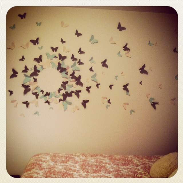 Diy Wall Decoration Butterfly : Diy butterfly wall art recycled toilet rolls