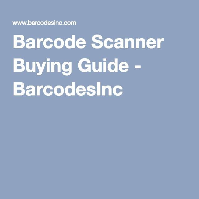Barcode Scanner Buying Guide - BarcodesInc