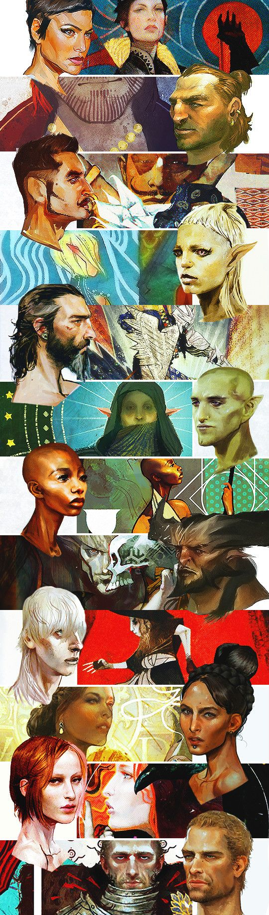 Dragon Age: Inquisition concept art/tarot card collage, by theprettyhelpless