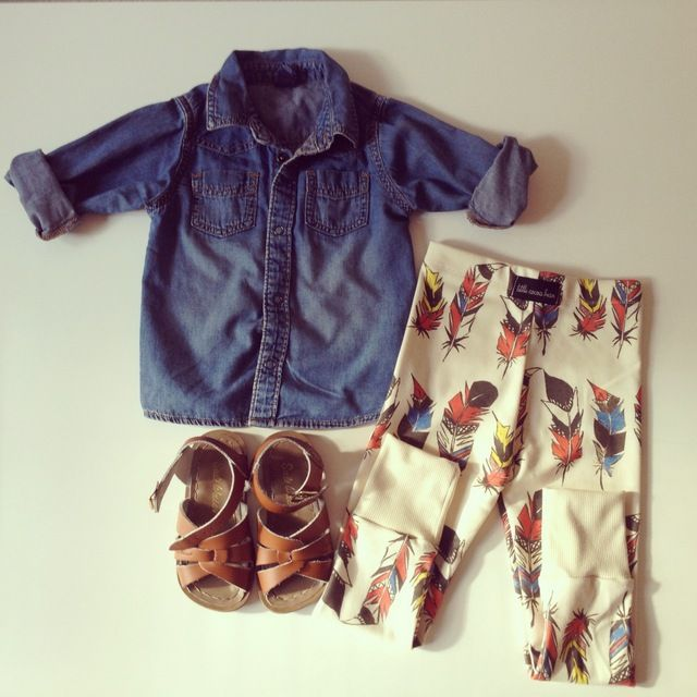 LOVE everything about this outfit... esp that it has a relaxed American Indian vibe about it. My lil Pocahontas would look totally rock this outfit.