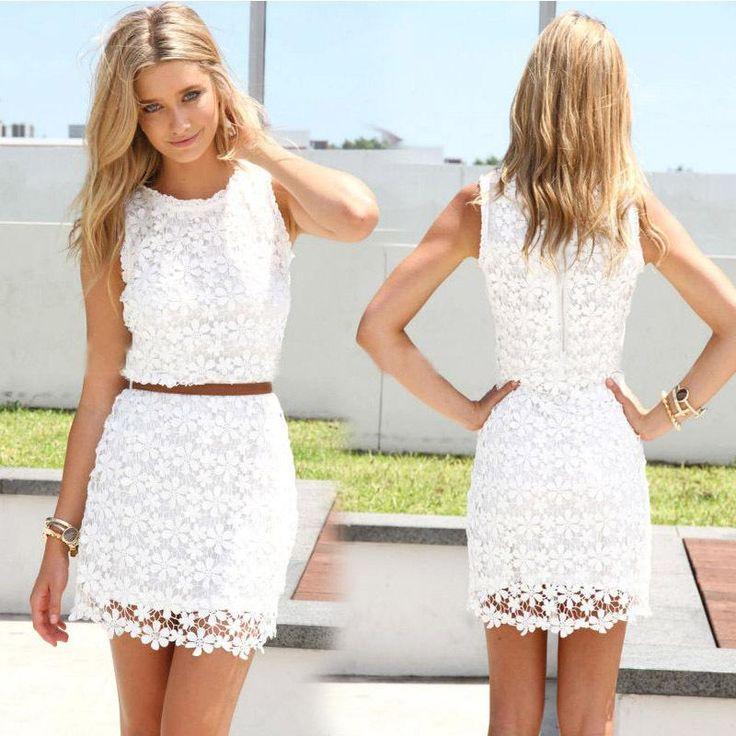 Sale Off White Lace Dresses 2015 New Arrival Hot Women Summer Dress Sleeveless Cute Casual Dresses Vestidos Roupas Femininas Dresses German From Vipbagjersey, $35.61   Dhgate.Com
