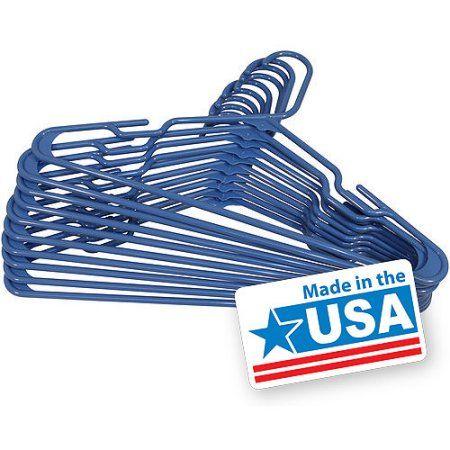 Mainstays Plastic Hangers, 10pk, Blue